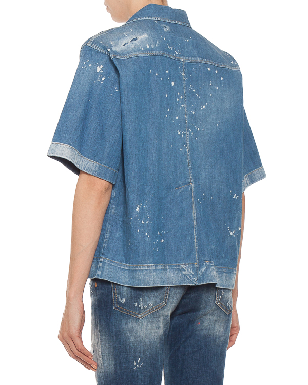 женская рубашка DSQUARED2, сезон: лето 2018. Купить за 4100 руб.   Фото 1