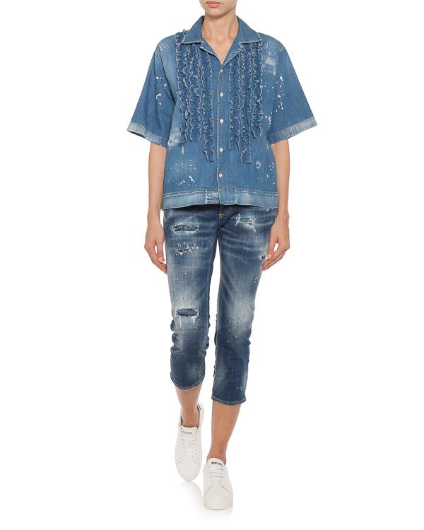 женская рубашка DSQUARED2, сезон: лето 2018. Купить за 4100 руб.   Фото 2