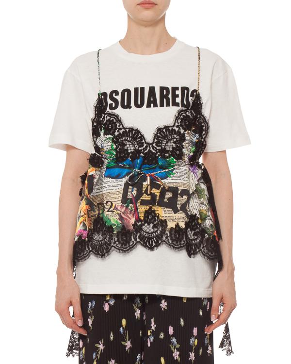 женская футболка DSQUARED2, сезон: лето 2019. Купить за 60500 руб. | Фото $i