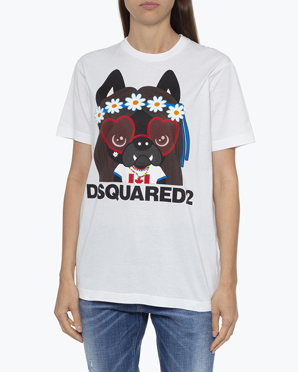 Женская футболка DSQUARED2, сезон: лето 2021. Купить за 10700 руб. | Фото 2