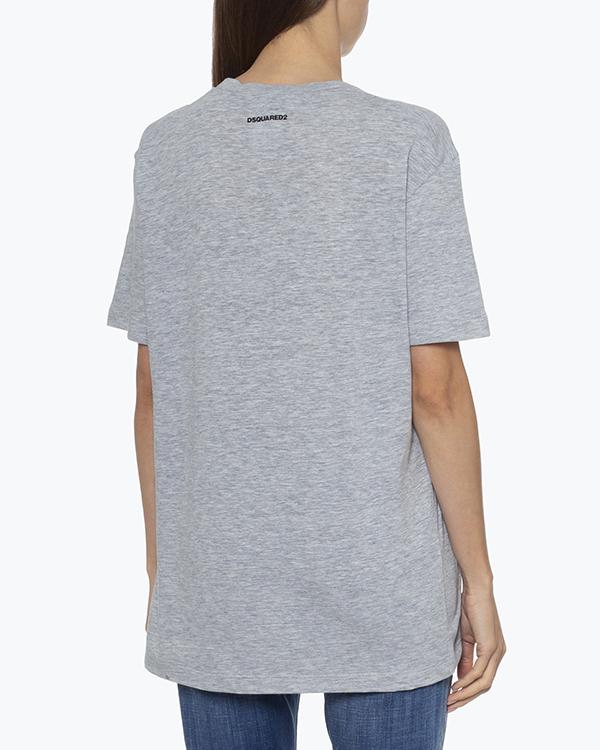 Женская футболка DSQUARED2, сезон: лето 2021. Купить за 11300 руб.   Фото 3