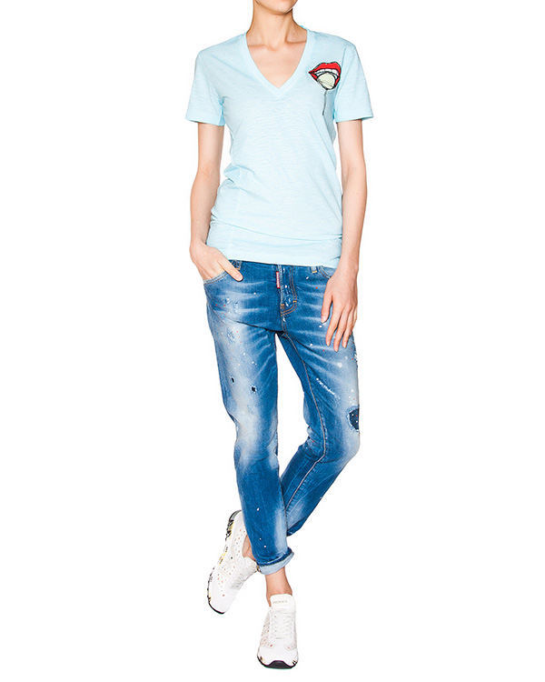 женская джинсы DSQUARED2, сезон: лето 2016. Купить за 26300 руб.   Фото $i