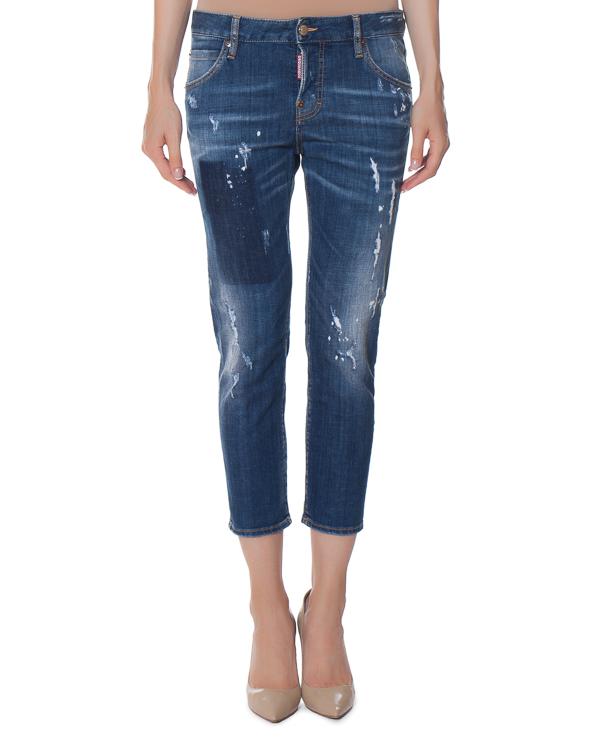 джинсы Tomboy укороченного силуэта артикул S72LB0040 марки DSQUARED2 купить за 18800 руб.