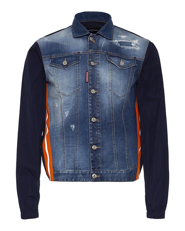 куртка DSQUARED2 S74AM1127 50 синий+оранжевый