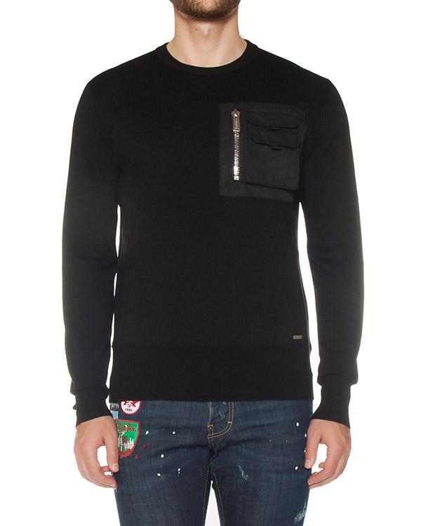 джемпер из тонкой шерсти с накладным карманом артикул S74HA0808 марки DSQUARED2 купить за 35100 руб.