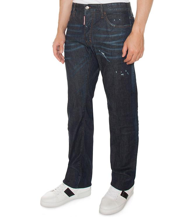 джинсы Slim из плотного денима с потертостями артикул S74LB0270 марки DSQUARED2 купить за 22000 руб.
