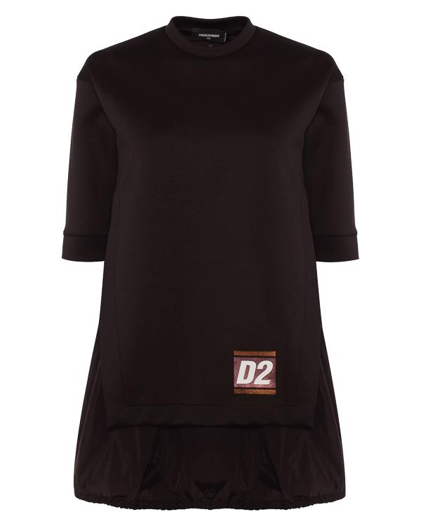 платье толстовочного кроя с логотипом бренда  артикул S75CU0789 марки DSQUARED2 купить за 41600 руб.