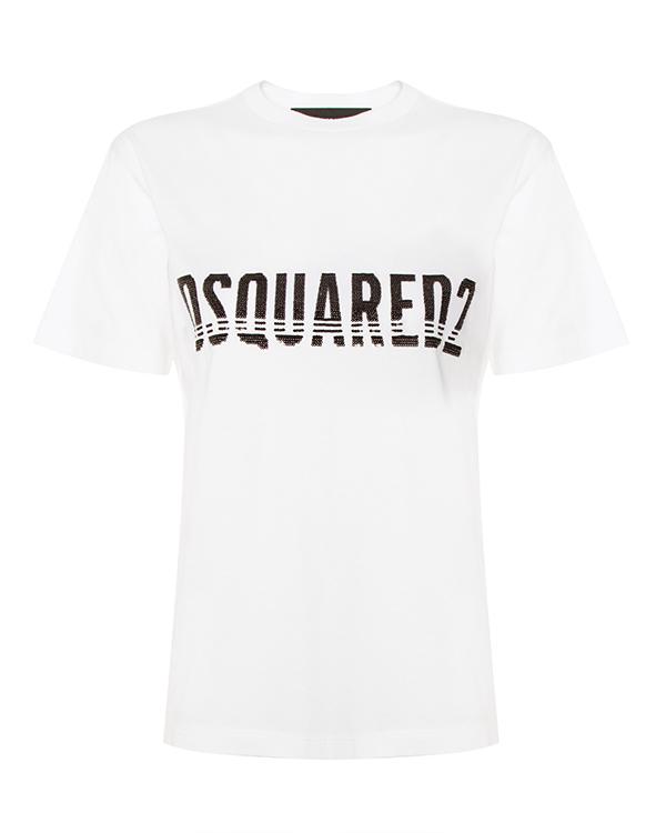 DSQUARED2 из хлопка с принтом логотипа бренда артикул  марки DSQUARED2 купить за 11900 руб.