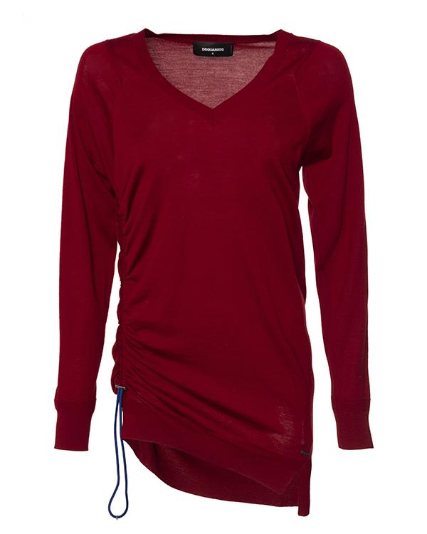 пуловер удлиненного силуэта из трикотажной шерсти артикул S75HA0696 марки DSQUARED2 купить за 17800 руб.