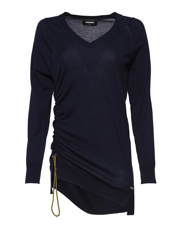пуловер удлиненного силуэта из трикотажной шерсти  артикул S75HA0696 марки DSQUARED2 купить за 24900 руб.