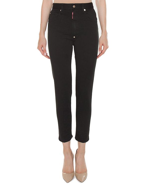 джинсы Slim с высокой посадкой на талии артикул S75LA0919 марки DSQUARED2 купить за 17600 руб.