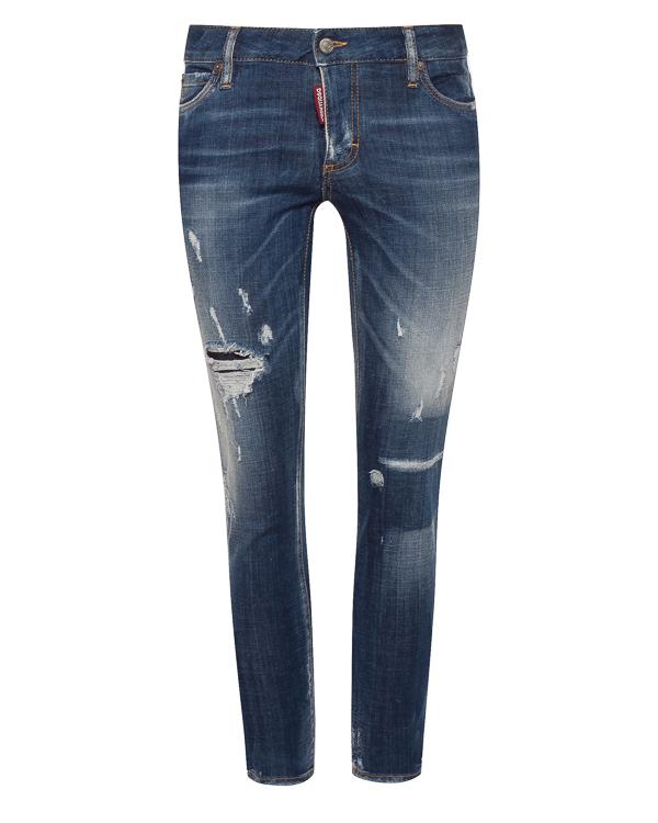 женская джинсы DSQUARED2, сезон: зима 2018/19. Купить за 33900 руб. | Фото 0