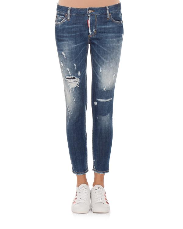 женская джинсы DSQUARED2, сезон: зима 2018/19. Купить за 33900 руб. | Фото 1