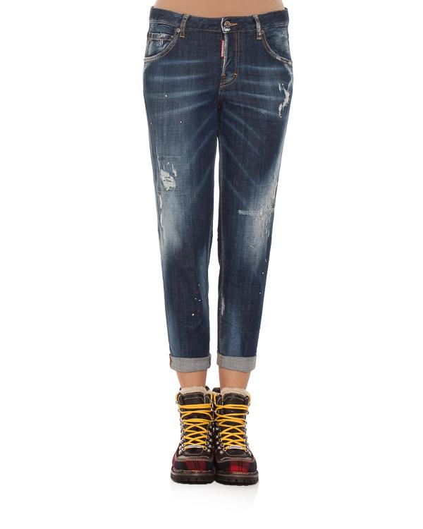 женская джинсы DSQUARED2, сезон: зима 2018/19. Купить за 23500 руб.   Фото 1