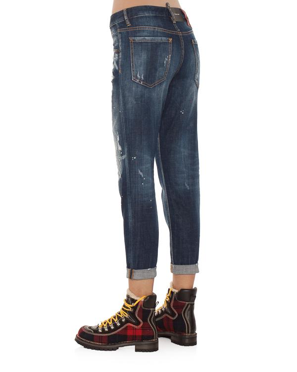 женская джинсы DSQUARED2, сезон: зима 2018/19. Купить за 23500 руб.   Фото 2