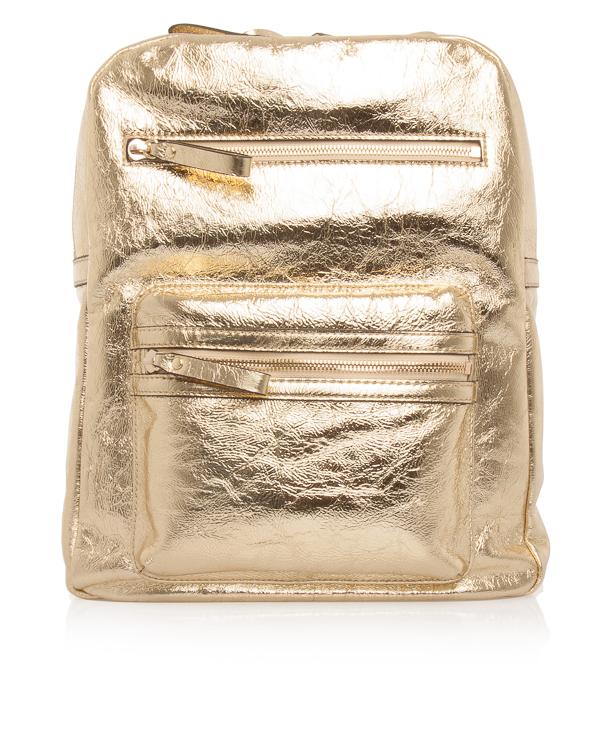 ASH из металлизированной кожи с металлическими клепками артикул SASHA марки ASH купить за 12800 руб.