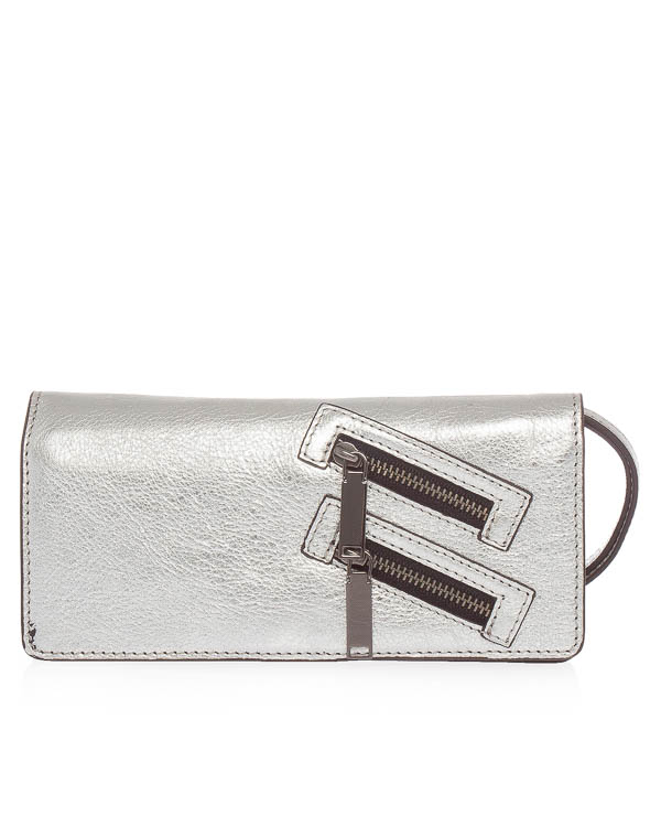 кошелек Long Snap из мятой кожи артикул SH17GJMW06SL марки Rebecca Minkoff купить за 11500 руб.