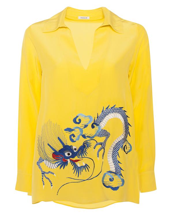 блуза  из шелка с вышивкой  артикул SIDRO380535R марки P.A.R.O.S.H. купить за 33900 руб.