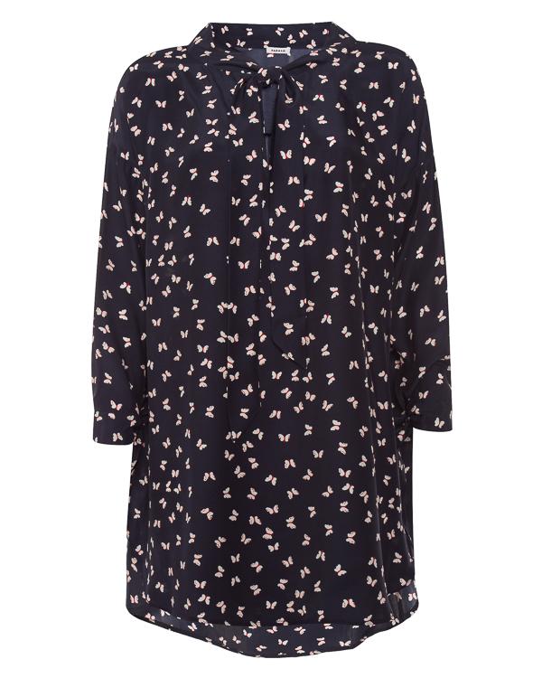 платье свободного силуэта из шелка с принтом  артикул SIMPATY300733 марки P.A.R.O.S.H. купить за 26000 руб.