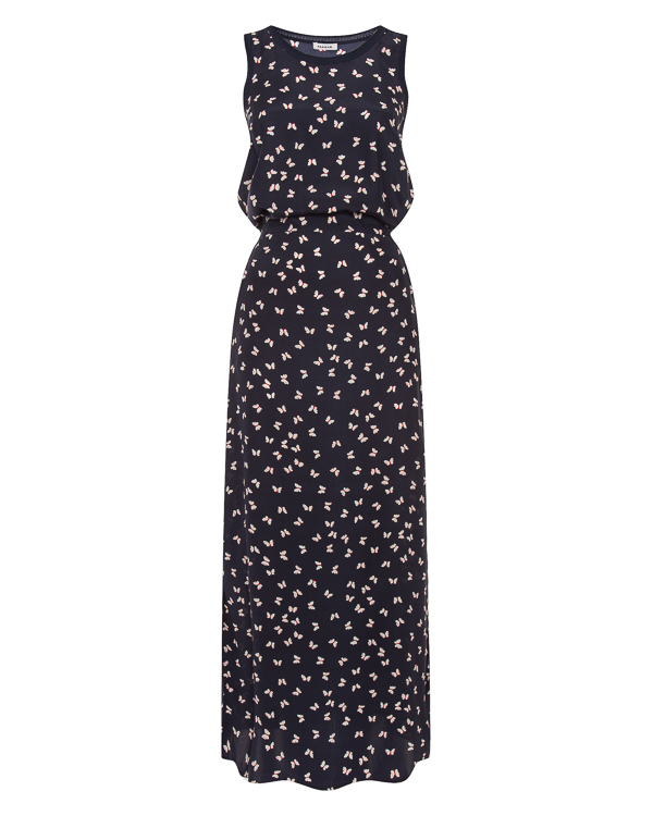 платье из принтованного шелка с разрезами  артикул SIMPATY720735 марки P.A.R.O.S.H. купить за 30600 руб.