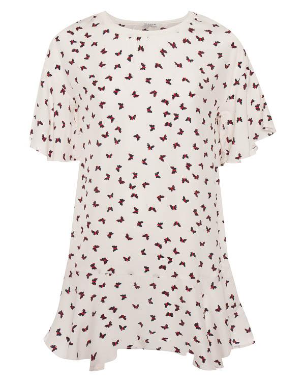 платье мини из шелка с мелким принтом-бабочки  артикул SIMPATY720750 марки P.A.R.O.S.H. купить за 23600 руб.