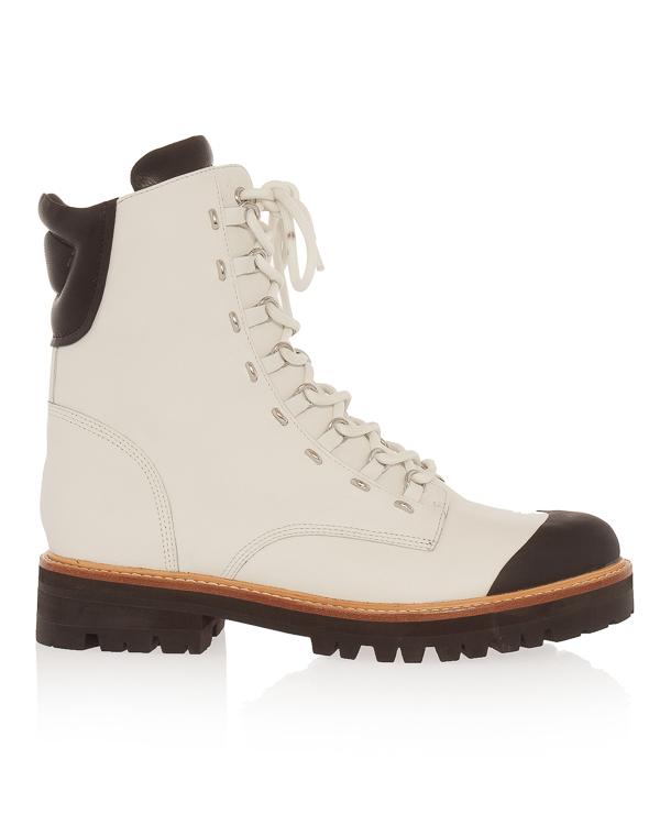 ботинки из плотной кожи на шнуровке артикул SMIRENE марки Sigerson Morrison купить за 28400 руб.