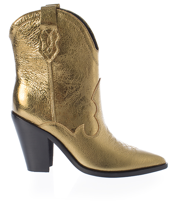 Sigerson Morrison казаки из золотой кожи  артикул  марки Sigerson Morrison купить за 30100 руб.