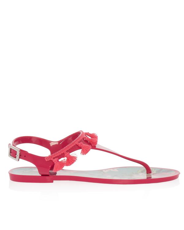 сандалии из мягкого нейлона с кисточками артикул SOFIA марки MC2 Saint Barth купить за 4600 руб.