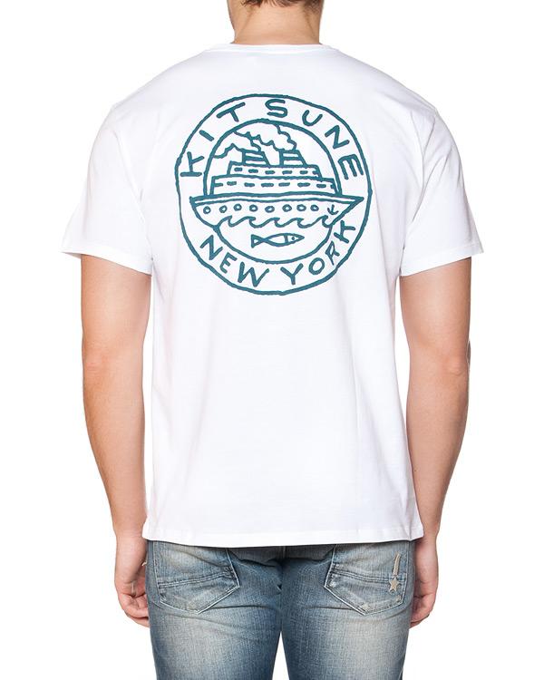 мужская футболка Maison Kitsune, сезон: лето 2015. Купить за 3700 руб. | Фото $i