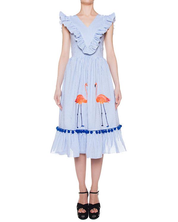 платье  артикул SS17354flamingos марки KATЯ DOBRЯKOVA купить за 9500 руб.