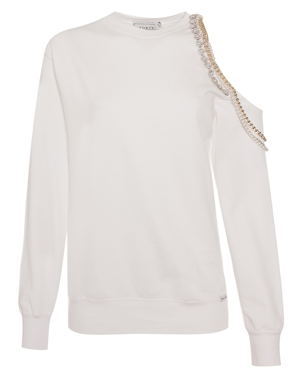 FORTE DEI MARMI COUTURE из хлопка с открытым плечом  артикул SS1810 марки Forte Couture купить за 14800 руб.