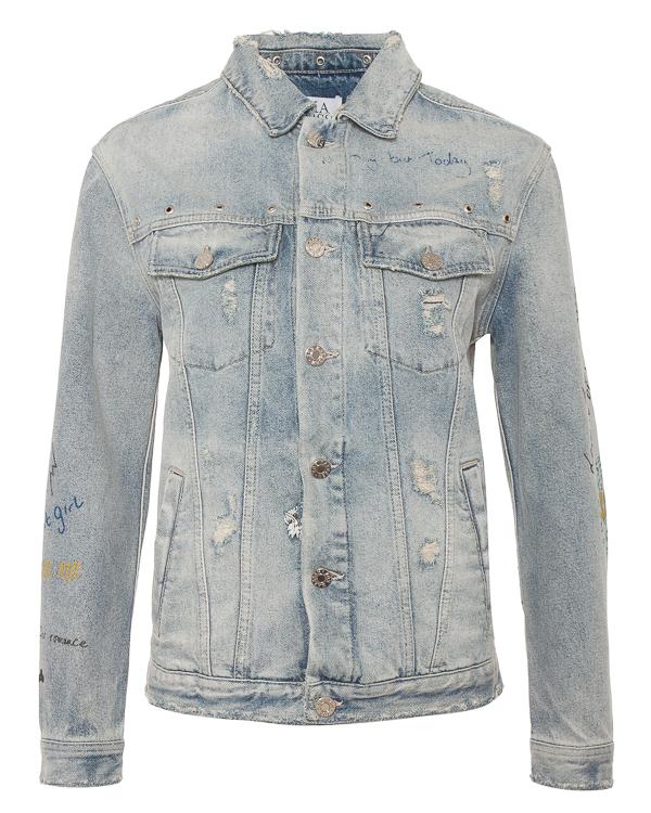Zoe Karssen джинсовка с принтами и вышивкой в стиле Old school артикул SS181552 марки Zoe Karssen купить за 26500 руб.