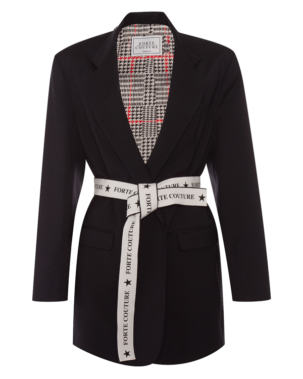 FORTE DEI MARMI COUTURE из костюмной шерсти с поясом  артикул SS183010 марки Forte Couture купить за 61600 руб.