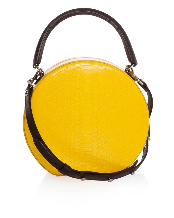 Rebecca Minkoff круглой формы из кожи под рептилию артикул  марки Rebecca Minkoff купить за 10100 руб.