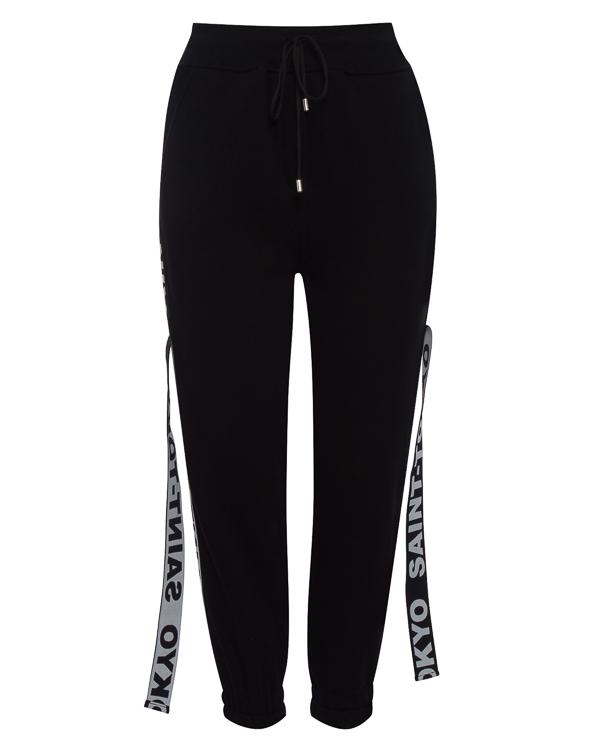 брюки из хлопка в стиле спорт-шик  артикул STFW1718LOKY-B марки Saint-Tokyo купить за 10500 руб.