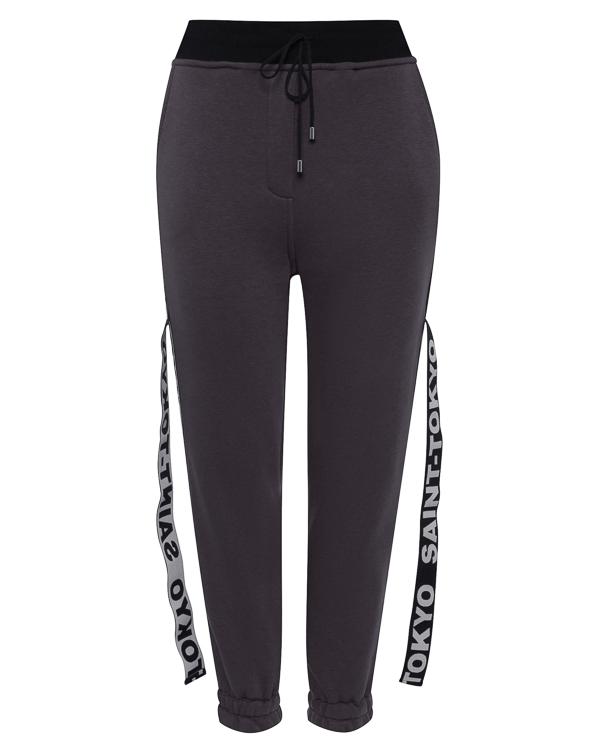 брюки из хлопка в стиле спорт-шик артикул STFW1718LOKY-G марки Saint-Tokyo купить за 10500 руб.