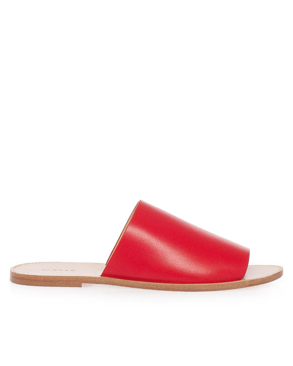 сандалии из мягкой кожи  артикул STRIPSHOE070067 марки P.A.R.O.S.H. купить за 9500 руб.