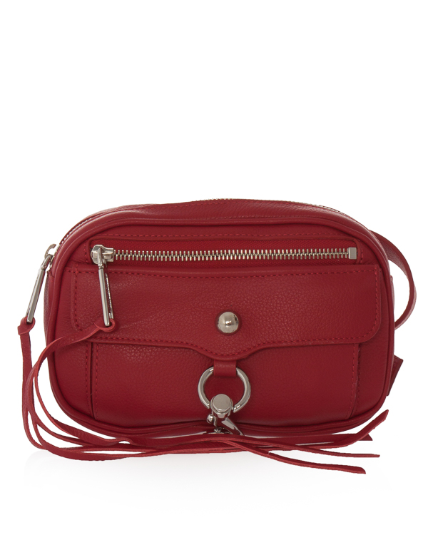 сумка на пояс из шагреневой кожи  артикул SU18LBHB08SL марки Rebecca Minkoff купить за 18400 руб.