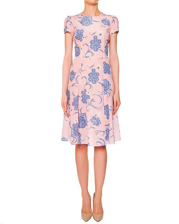 платье из легкого шелка с цветочным рисунком артикул SUSAN720351 марки P.A.R.O.S.H. купить за 22100 руб.