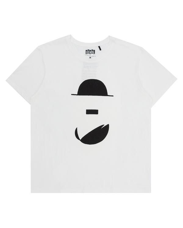 футболка из хлопка с арт-принтом  артикул T17F31 марки The ART of SCRIBBLE купить за 2300 руб.