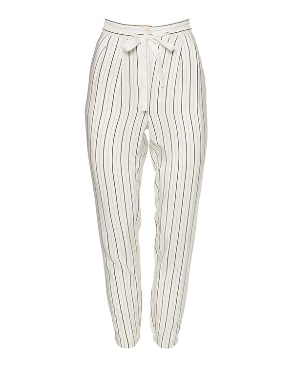 брюки из шелка в тонкую полоску артикул TBSPWS3126 марки TIBI купить за 9300 руб.