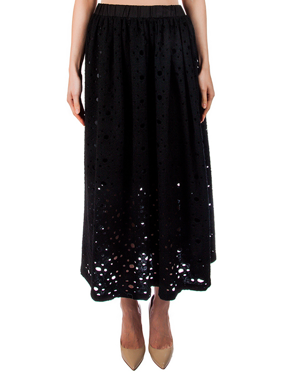 юбка перфорированная из микса хлопка и шерсти артикул TC67JG003 марки Tsumori Chisato купить за 24800 руб.