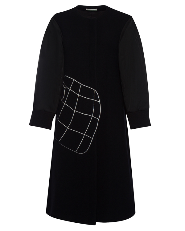 пальто А-образного силуэта из шерсти артикул TC79FA088 марки Tsumori Chisato купить за 88700 руб.
