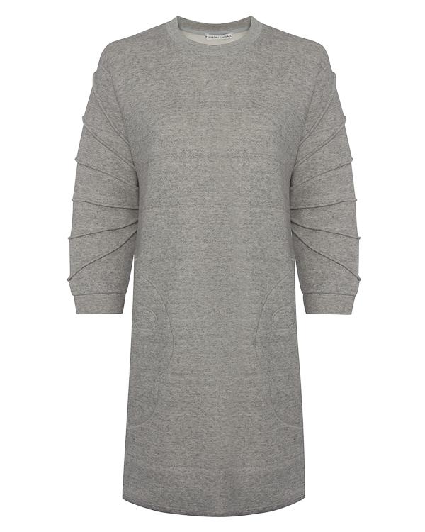 платье А-образного силуэта из меланжевого трикотажа артикул TC79JH020 марки Tsumori Chisato купить за 21000 руб.