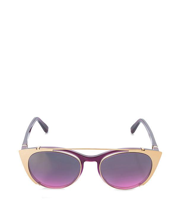 очки+линзы из ацетата с прозрачными линзами + съемные солнцезащитные линзы; безвинтовой шарнир; ручная работа артикул TERESA марки MYKITA купить за 43600 руб.