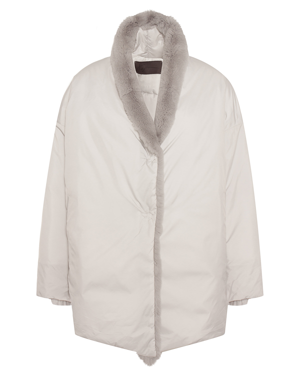 куртка с отделкой натуральным мехом  артикул TG009 марки Tegin купить за 73300 руб.