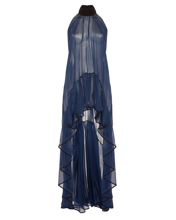 платье из тонкого шелка с открытой спиной  артикул TNQ1347 марки Stelios Koudounaris купить за 45800 руб.