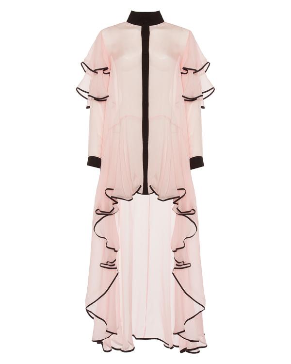 платье из тонкого шелка асимметричной длины  артикул TNQ1348 марки Stelios Koudounaris купить за 57400 руб.