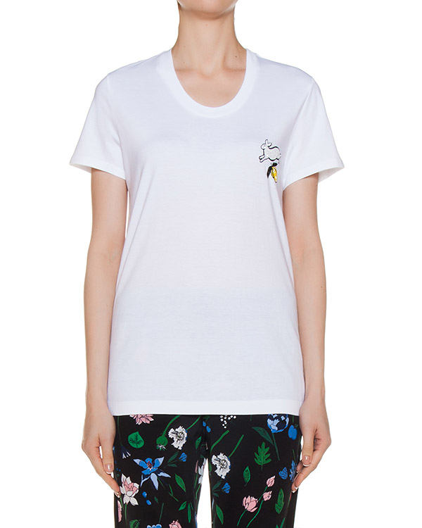 футболка из трикотажа с вышивкой артикул TP1049 марки Markus Lupfer купить за 5400 руб.