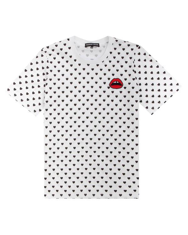 футболка из плотного хлопка с принто артикул TP1234 марки Markus Lupfer купить за 8100 руб.